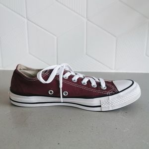 Converse Shoes - Burgundy Chuck Taylor All Star Low Tops